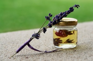 rose oil and lavender