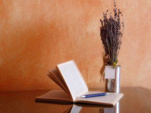 lavender and book