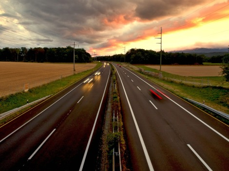 road motorway freedom evening on pixabay